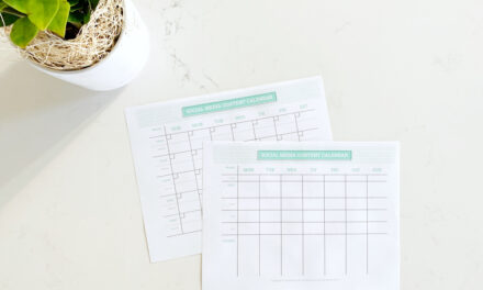 FREE Printable Social Media Calendar Template 2021