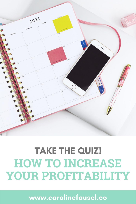 How to Increase Profitability Quiz Pinterest